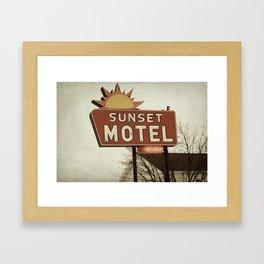 Sunset Motel Framed Art Print