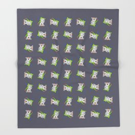Lady Koala Throw Blanket