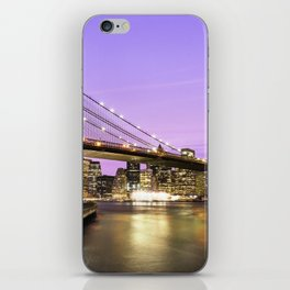 Brooklyn Bridge at night. New York iPhone Skin