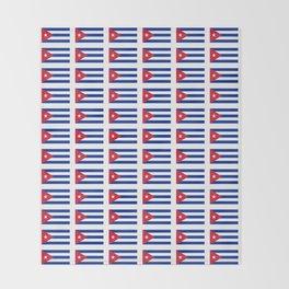 Flag of Cuba 2 -cuban,havana, guevara,che,castro,tropical,central america,spanish,latine Throw Blanket