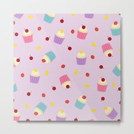 Fruity Cupcakes Metal Print
