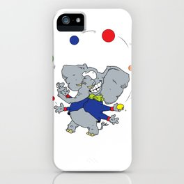Multi-armed Elephants Never Forget How To Juggle iPhone Case