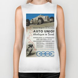 Vintage German Auto Union poster Biker Tank
