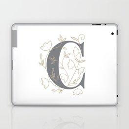 'C' Flower Illustration Laptop & iPad Skin