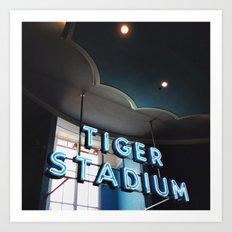 Tiger Stadium  Art Print