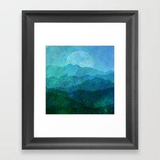 Blue Abstract Landscape Framed Art Print