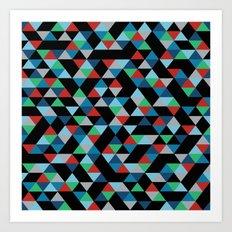 Triangles 4B Art Print