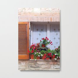 Assisi: Flowers Metal Print