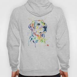 Yellow Lab Colorful Watercolor Painting - Puppy Star Hoody