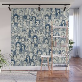 WOMEN OF THE WORLD BLUE Wall Mural