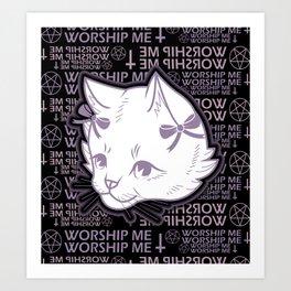 WORSHIP ME Art Print
