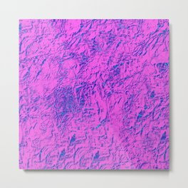 Textured Pink And Blue Metal Print
