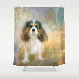 The Attentive Cavalier Shower Curtain