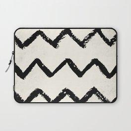 ZigZag Stripes on Ivory Laptop Sleeve