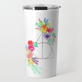 Deathly Hallows Floral Travel Mug