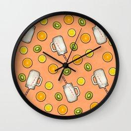 Summer fruit #society6 Wall Clock