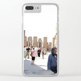 Temple of Luxor, no. 27 Clear iPhone Case
