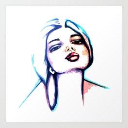 She Glows Blue Art Print