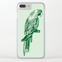 MR PARROT Clear iPhone Case