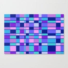 Rectangle Pattern blue violett Canvas Print