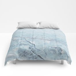 Light Blue Marble Comforters