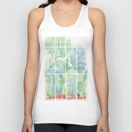 Winter in Glass Houses I Unisex Tank Top