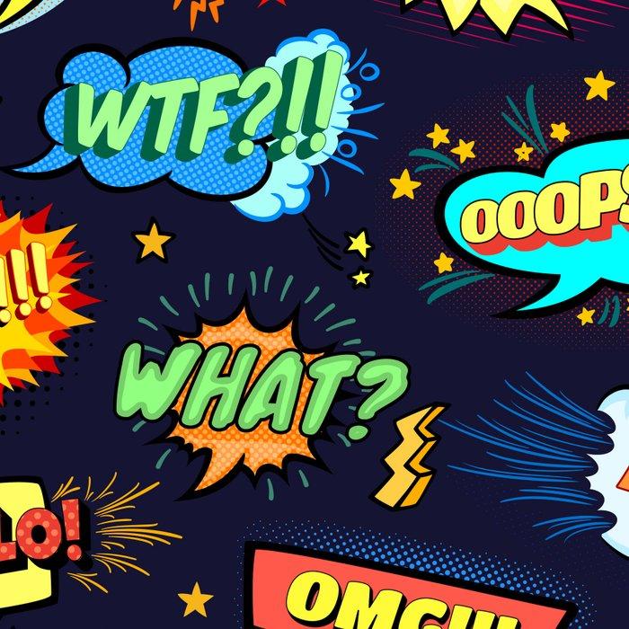 Retro Vintage Comic Book Speech Bubbles Design Leggings