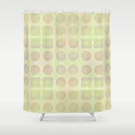 Abstract array of dots in light pastels on the yellow side Shower Curtain