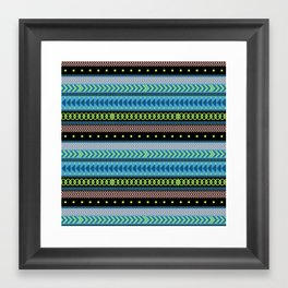 Together Again - tribal geometrics Framed Art Print