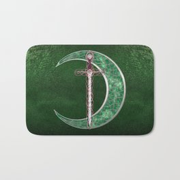 Green Celtic Moon Bath Mat