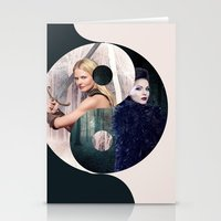 ying yang Stationery Cards featuring Ying Yang by Geek World