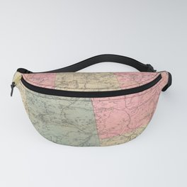 Vintage Map of The Adirondack Mountains (1883) Fanny Pack