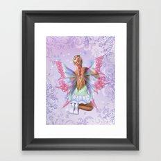Make a Wish Fairy Framed Art Print