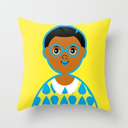 Girl 3 - Raindrops Throw Pillow