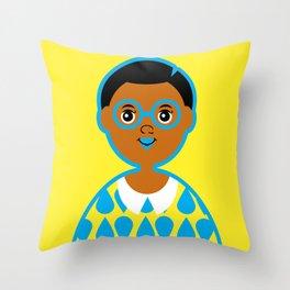 Girl 3 - Raindrops Throw Pillow