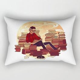 Book Lover Boy Rectangular Pillow