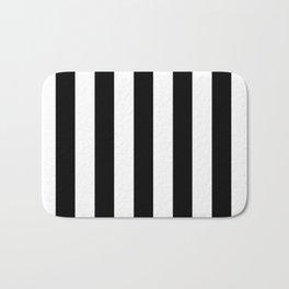 Stripes Black And White Bath Mat
