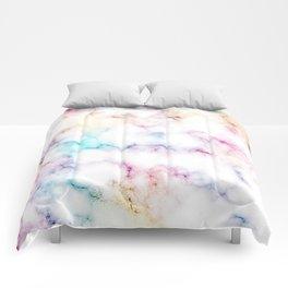 Rainbow Marble Pattern Comforters