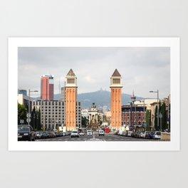 Venetian Towers (wide) Art Print