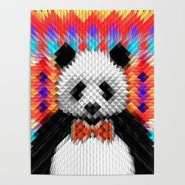 Geo Panda Poster
