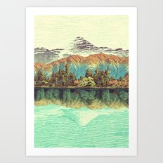 The Unknown Hills in Kamakura Art Print