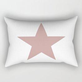 Ancient rose star on white Rectangular Pillow