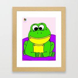 Wide-Eyed Toad Framed Art Print