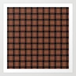 Dark Brown Weave Art Print