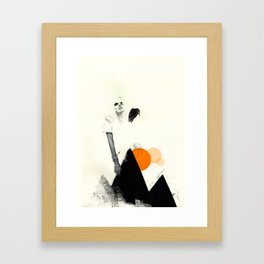 If Up Were Along Framed Art Print