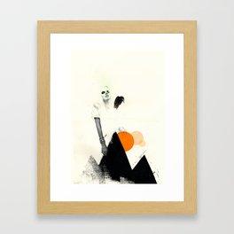 If Up Were Along Framed Art Print