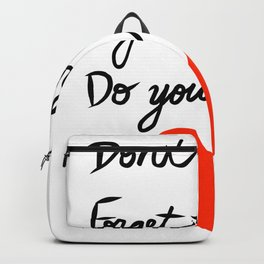 Don't Stress Forget the Rest Do Your Best Backpack