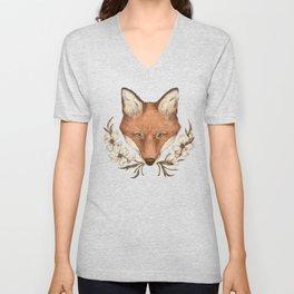 The Fox and Dogwoods Unisex V-Neck