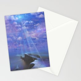 The MoonBeam Path Stationery Cards