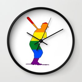 Rainbow Batter Wall Clock